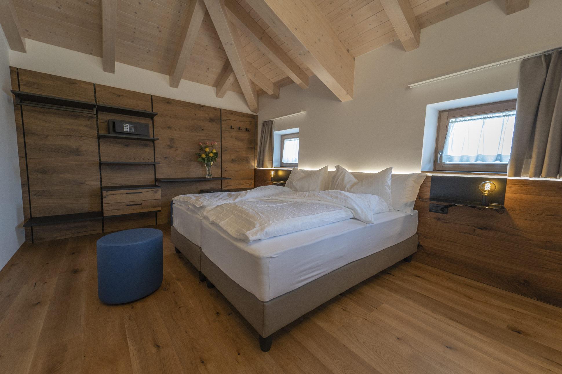 Camere moderne e accoglienti all'Agritur La Crucola